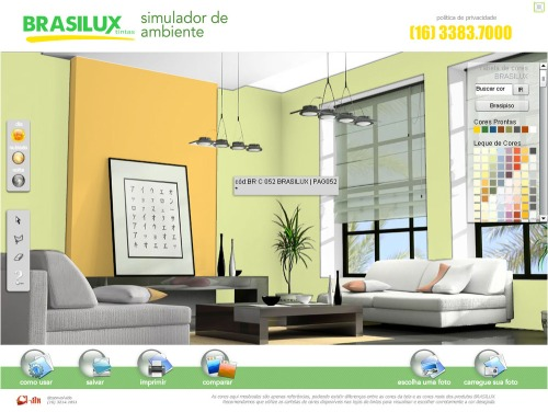 Brasilux simulador de ambiente dekwilde for Simulador de ambientes 3d